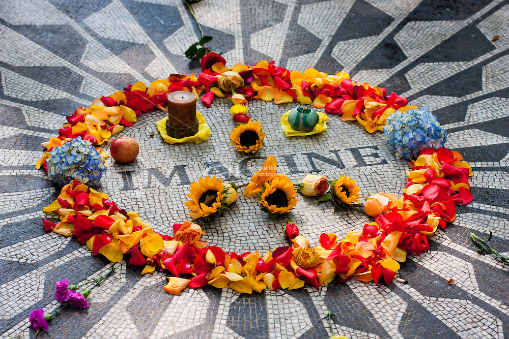 strawberry fields in central park - New York City in October 2008