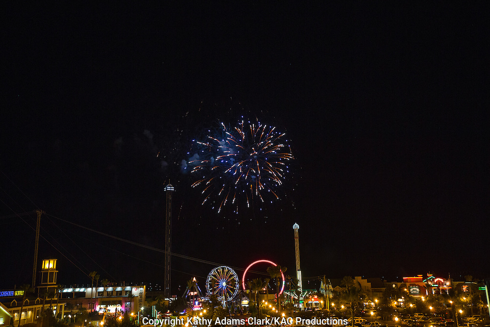 Fireworks, Kemah Boardwalk, Kemah, Texas, amusement park