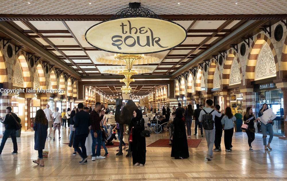 The Souk department inside the Dubai Mall, Dubai, United Arab Emirates.