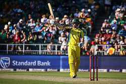 Travis Head of Australia celebrates his 50 during the 2nd ODI match between South Africa and Australia held at The Wanderers Stadium in Johannesburg, Gauteng, South Africa on the 2nd October  2016<br /> <br /> Photo by Dominic Barnardt/ RealTime Images