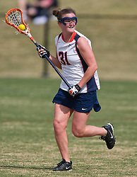 Virginia A Jenny Hauser (31).  The #2 ranked Virginia Cavaliers women's lacrosse team defeated the Penn State Nittany Lions 12-11 in overtime at Klockner Stadium on the Grounds of the University of Virginia in Charlottesville, VA on March 7, 2009.