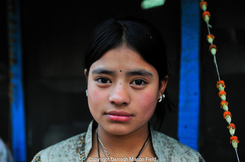 A girl from Manali in the province of Himachal Pradesh.