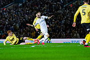 Leeds United midfielder Mateusz Klich (43) and Millwall midfielder Ryan Woods (19) in action during the EFL Sky Bet Championship match between Leeds United and Millwall at Elland Road, Leeds, England on 28 January 2020.