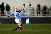 Manchester City defender and captain Steph Houghton (6) during the FA Women's Super League match between Manchester City Women and Everton Women at the Sport City Academy Stadium, Manchester, United Kingdom on 20 February 2019.