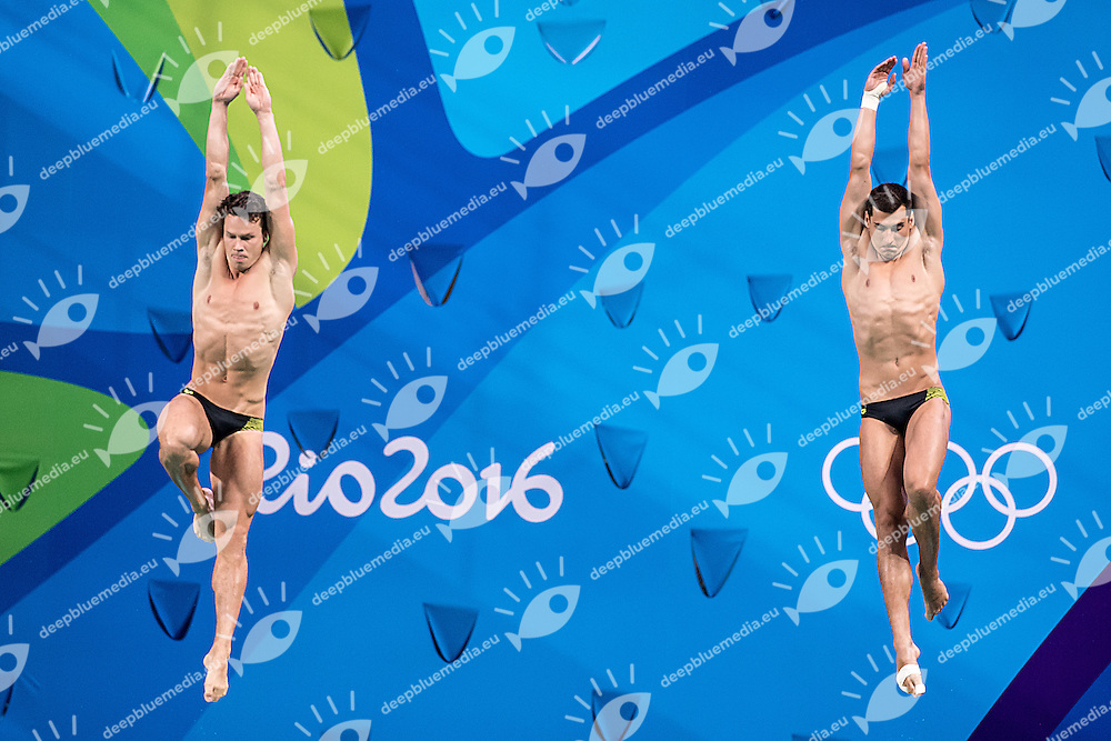 Team GER   FECK Stephan HAUSDING Patrick <br /> 3m synchro men<br /> Rio de Janeiro  XXXI Olympic Games <br /> Olympic Aquatics Stadium <br /> diving 10/08/2016<br /> Photo Giorgio Scala/Deepbluemedia/Insidefoto