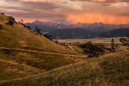 Absaroka Range, south of Livingston, Montana, storm