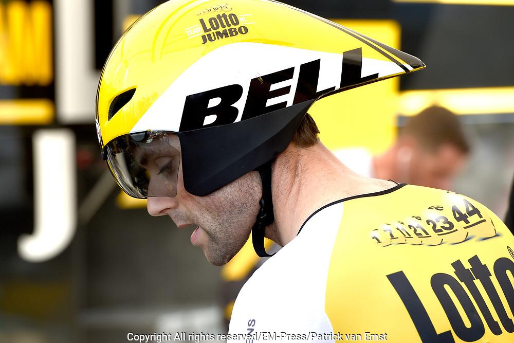 Eerste etappe Tour de France, Tijdrit in Utrecht / First stage Tour de France time trial in Utrecht.<br /> <br /> Op de foto:  Paul Martens