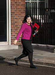 Baroness Warsi of the United Kingdom arrives for the cabinet meeting at 10 Downing Street, London, United Kingdom. Tuesday, 8th April 2014. Picture by Daniel Leal-Olivas / i-Images