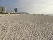 Early morning empty South Beach Miami USA