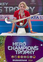 BHUBANESWAR  (INDIA) -  Nina Niedermeyer (FIH) The Trophy. Prize  Champions Trophy Hockey.   Photo KOEN SUYK