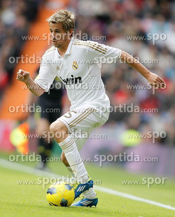 06.11.2011, Santiago Bernabeu Stadium, Madrid, ESP, Primera Division, Real Madrid vs CA Osasuna, im Bild  Real Madrid's Fabio Coentrao // during Primera Division league football match between Real Madrid an CA Osasuna at Santiago Bernabeu Stadium, Madrid, Spain on 06/11/2011. EXPA Pictures © 2011, PhotoCredit: EXPA/ Alterphoto/ Alvaro Hernandez +++++ ATTENTION - OUT OF SPAIN/(ESP) and OUT OF SWISS/(SUI) ++++