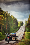 The ultimate road trip: Four-year-old covers 17,000 miles and visits 41 European countries... in a SIDECAR<br /> <br /> Vladimir Barbu is only four years old, but chances are this adventurous youngster has seen more of the world than many adults.<br /> That's thanks to his parents revving up the itinerary for their summer holiday last year and taking him on a four-month adventure through 41 European countries covering 17,000 miles - in a trusty sidecar. A 2014 Ural Ranger model fondly nicknamed Zair. <br /> And the photographs look incredible.  <br /> <br /> To keep costs down, the Barbu family camped in camp sites or in the wild, checked into cheap hotels, or stayed with friends. <br /> And other nights were spent sleeping under the stars in Morocco on a hotel roof. <br /> By day, little Vladimir can be seen exploring spectacular mosques, playing with monkeys and gazing down on spellbinding mountain valleys. <br /> <br /> 'In my opinion, motorcycles are the only option when it comes to travel and seeing the world,' photographer Mihai Barbu, who forked out £10,660 for the unusual mode of transport,<br /> 'With cars and planes you don't get to experience that much. You don't get to feel warm when it's hot and wet when it's raining.'  <br /> For Mihai, exploring new destinations by road felt fairly familiar. <br /> 'In 2009 I did a solo trip to Mongolia, on a BMW F650GS Dakar,' he said.<br /> 'I love motorcycles, I used to own two bikes, and when Vladimir came into our lives I had to buy a third one, with three seats. <br /> 'We bought the bike with the only wish that it would keep us away from home for as long as possible.' <br /> ©Exclusivepix Media