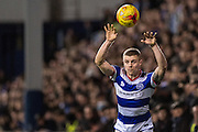Queens Park Rangers defender Jake Bidwell (3) during the EFL Sky Bet Championship match between Queens Park Rangers and Wigan Athletic at the Loftus Road Stadium, London, England on 21 February 2017. Photo by Sebastian Frej.