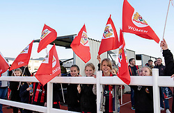 Mascots at Stoke Gifford Stadium for Bristol City Women v Liverpool FC Women - Mandatory by-line: Paul Knight/JMP - 17/11/2018 - FOOTBALL - Stoke Gifford Stadium - Bristol, England - Bristol City Women v Liverpool Women - FA Women's Super League 1