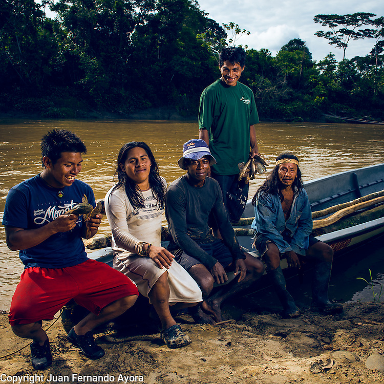 Editorial images shot at the Waorani community of Bameno in the Ecuadorian Amazon Rainforest.