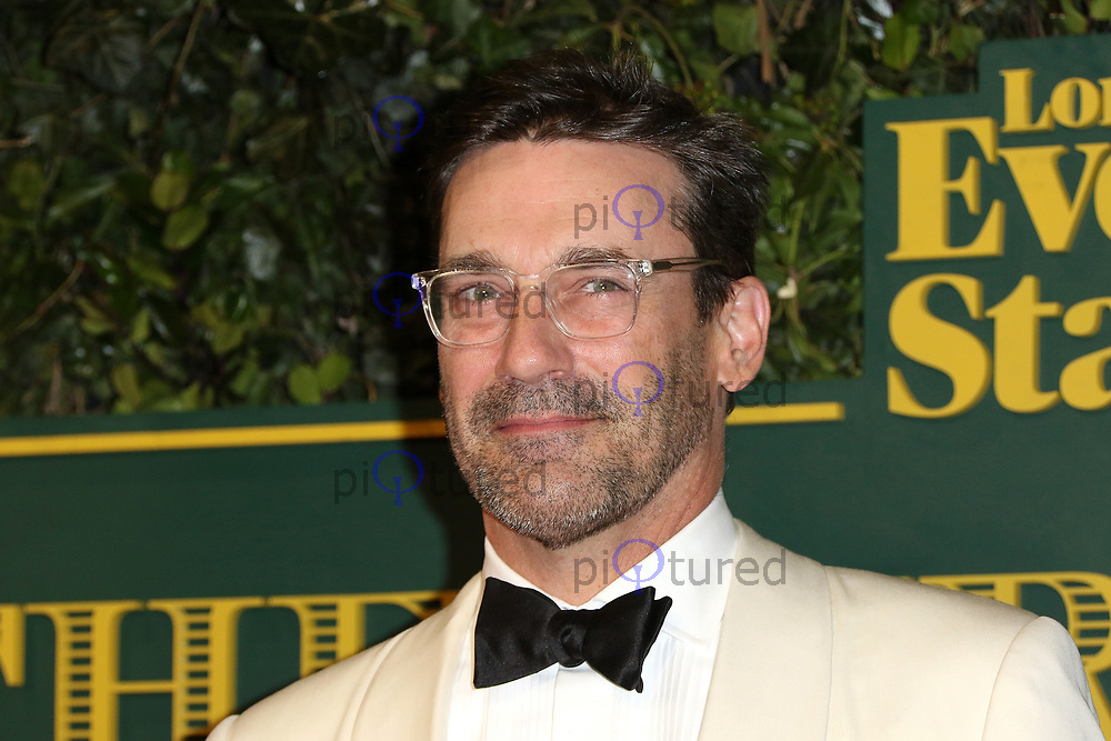 Jon Hamm, London Evening Standard Theatre Awards, Theatre Royal Drury Lane, London UK, 03 December 2017, Photo by Richard Goldschmidt
