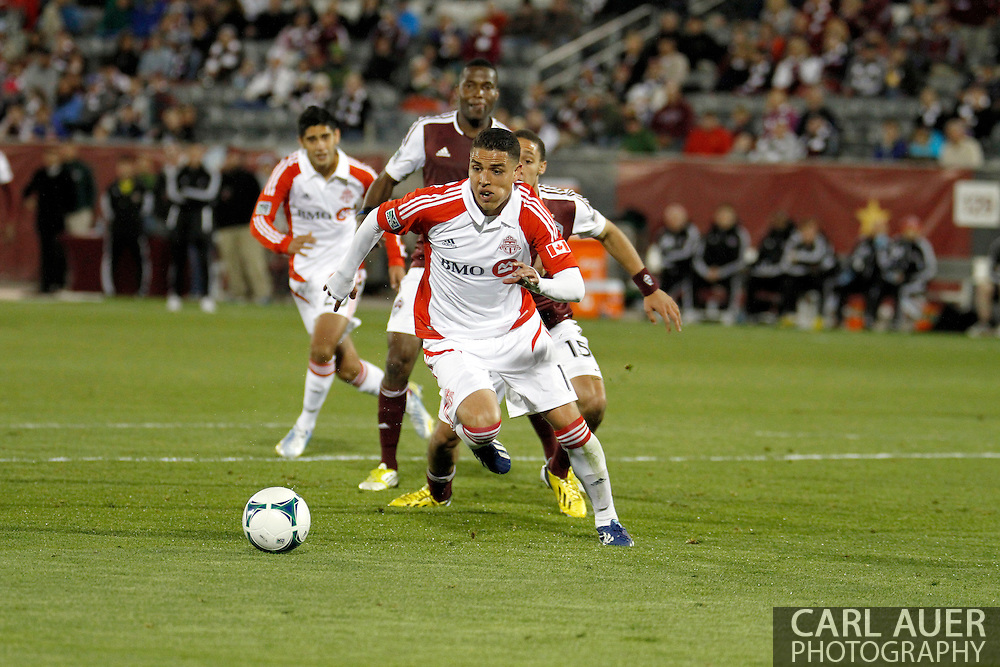 May 4th, 2013 Commerce City, CO - Toronto FC midfielder Luis Silva (11) chases after the ball in the Colorado goal box in the second half of action in the MLS match between the Toronto FC and the Colorado Rapids at Dick's Sporting Goods Park in Commerce City, CO