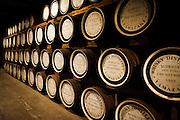 Yamazaki, November 22 2011 - Suntory whisky distillery in Yamazaki, Japan. maturation process in the oak casks.