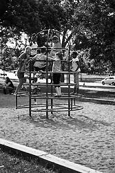 Children playing in the Minnehaha Park Playground.