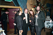 Rosey Chan; Lara Bohinc; Mike Figgis, Criterion Restaurant  celebrates its 135th anniversary. Piccadilly Circus. London. 2 February 2010