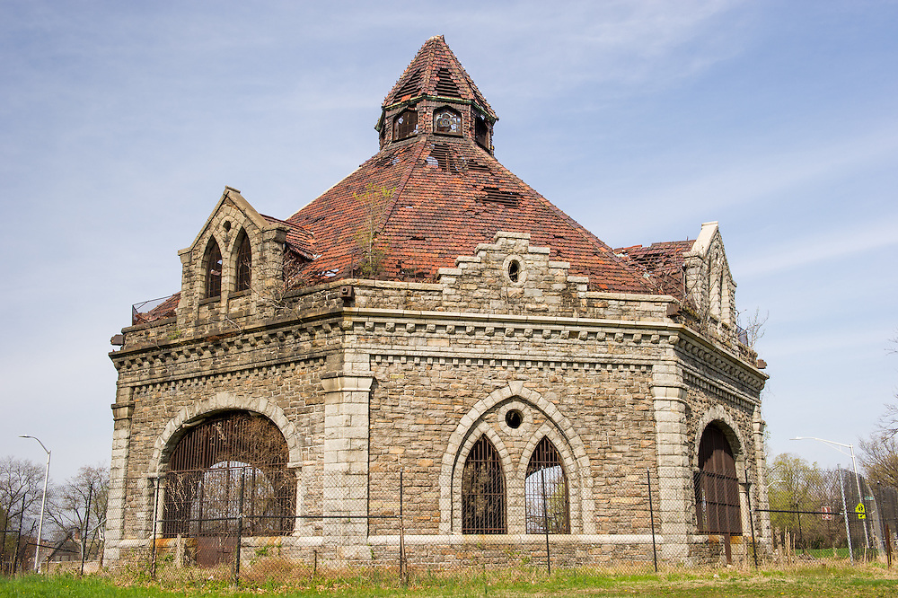 Lake Clifton Valve House, an endangered building in Baltimore, Maryland