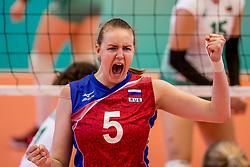 04-04-2017 NED:  CEV U18 Europees Kampioenschap vrouwen dag 3, Arnhem<br /> Rusland - Bulgarije 3-0 / Viktoriia Pushina #5