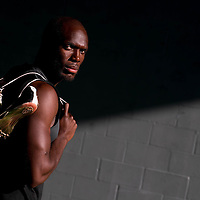 6/12/12 6:27:33 PM -- Bradenton, FL. -- Olympian LaShawn Merritt, who competes in the 400 meters, poses for a portrait at the IMG Performance Institute in Bradenton, Florida. ...Photo by Chip J Litherland, Freelance.