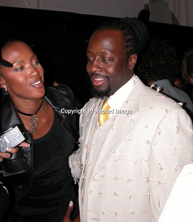 Naomi Campbell &amp; Wyclef Jean<br />