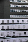 SHENYANG, CHINA - DECEMBER 02: (CHINA OUT) <br /> <br /> Fake Windows Are Found On A building in china<br /> <br /> A general view of fake windows on a 13 stories building at Shenhe District on December 2, 2014 in Shenyang, Liaoning province of China. A building was divided into 13 stories by painting fake widows rather than real windows. Six stories in the upper section were Chinese style and another seven stories at bottom were European style. <br /> ©Exclusivepix Media