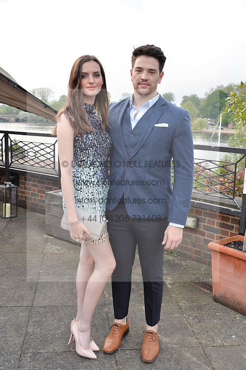 GEORGIA TAYLOR and JAMIE GAULDUR at a party to launch the Taylor Morris Explorer Collection held at the Serpentine Lido, Hyde Park, London on 11th May 2016.