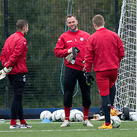 St Johnstone Training....03.04.15<br /> Keeper Alan Mannus pictured in training this morning ahead of tomorrow's game at Hamilton<br /> Picture by Graeme Hart.<br /> Copyright Perthshire Picture Agency<br /> Tel: 01738 623350  Mobile: 07990 594431