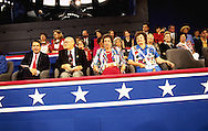 Delegates and VIP's..Scene from the Republican National Convention floor.