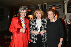 Left to right, RACHEL PAUL, LADYLIPWORTH and LILIAN HOCHHAUSER at a party to celebrate the publication on 'Just One More - A Photographers Memoir' by Gemma Levine held at 34, South Audley Street, London on 7th April 2014.