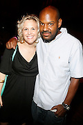 l to r: Ginny Suss and Anthony Denby at An evening with Dave Chappelle for Kevin Powell for Congress held at Eugene's on July 9, 2008..Kevin Powell runs as a Democratic Candidate for Congress in Brooklyn's 10th Congressional District