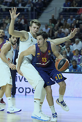 December 14, 2017 - Madrid, Spain - Thomas Heurtel of FC Barcelona Lassa during the 2017/2018 Turkish Airlines Euroleague Regular Season Round 12 game between Real Madrid v FC Barcelona Lassa at Wizink Arena on December 14, 2017 in Madrid, Spain. (Credit Image: © Oscar Gonzalez/NurPhoto via ZUMA Press)