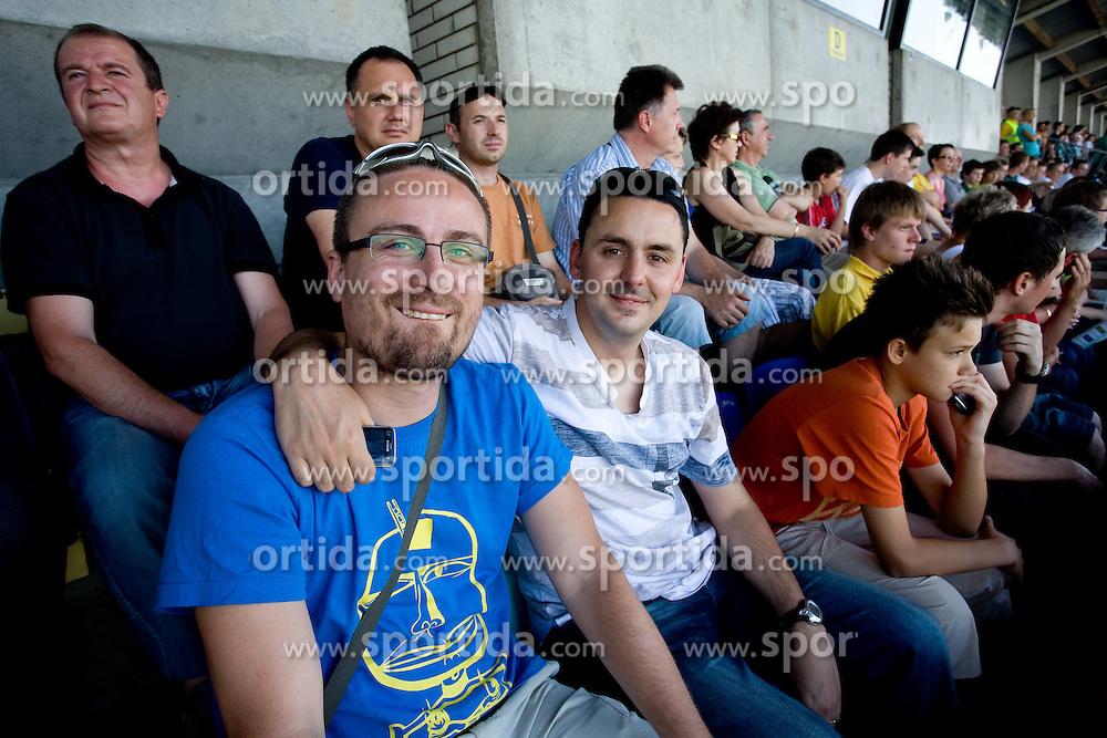 Rok Plestenjak and Martin Pavcnik at final match of 2nd SNL league between NK Olimpija in NK Aluminij, on May 23, 2009, ZAK, Ljubljana, Slovenia. Aluminij won 2:1. NK Olimpija is a Champion of 2nd SNL and thus qualified to 1st Slovenian football league for season 2009/2010. (Photo by Vid Ponikvar / Sportida)