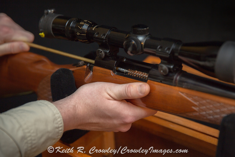 Repair and maintenence of a bolt action rifle.