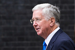 London, September 5th 2017. Defence Secretary Michael Fallon attends the first UK cabinet meeting at Downing Street after the summer recess. ©Paul Davey