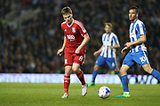 Birmingham City midfielder Stephen Gleeson (8) during the EFL Sky Bet Championship match between Brighton and Hove Albion and Birmingham City at the American Express Community Stadium, Brighton and Hove, England on 4 April 2017.