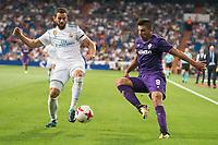 Real Madrid's Nacho Fernandez and Fiorentina's Giovanni Simeoni during XXXVIII Santiago Bernabeu Trophy at Santiago Bernabeu Stadium in Madrid, Spain August 23, 2017. (ALTERPHOTOS/Borja B.Hojas)