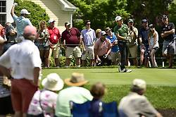 June 22, 2018 - Cromwell, CT, USA - Brian Harman watches his tee shot on the 6th hole during the second round of the Travelers Championship at TPC River Highlands in Cromwell, Conn., on Friday, June 22, 2018. (Credit Image: © John Woike/TNS via ZUMA Wire)
