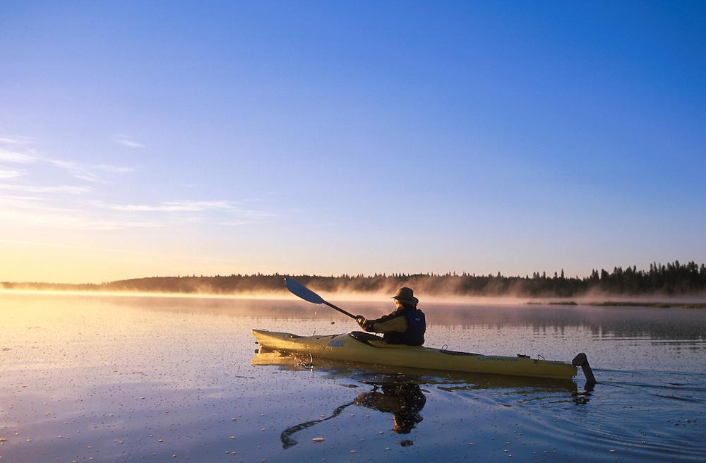 Kayaking, .Riding Mountain National Park,.Manitoba, Canada