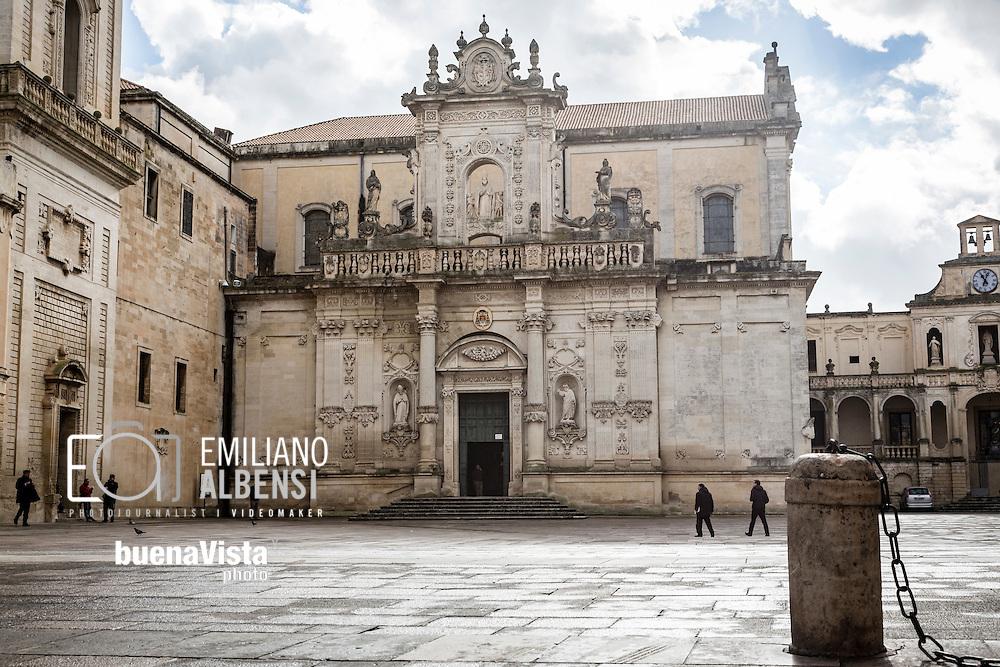 Emiliano Albensi<br /> 20/01/2017 Lecce (LE)<br /> Lecce<br /> Nella foto: la cattedrale metropolitana di Santa Maria Assunta a Lecce<br /> <br /> Emiliano Albensi<br /> 20/01/2017 Lecce<br /> Lecce<br /> In the picture: the Cathedral of Lecce dedicated to Assumption of the Virgin Mary.