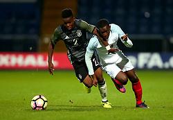 Edward Nketiah of England goes past Alfons Amade of Germany Under 19s - Mandatory by-line: Robbie Stephenson/JMP - 05/09/2017 - FOOTBALL - One Call Stadium - Mansfield, United Kingdom - England U19 v Germany U19 - International Friendly