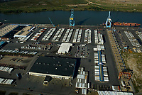 Aerial view of the Dole Headquarters and Chiiquita Banana Facilities at the Port of Wilmington, Delaware