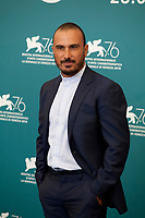 Venice, Italy, 30th August 2019, Francesco Di Leva at the photocall for the film The Mayor of Rione Sanita (Il Sindaco Del Rione Sanita) at the 76th Venice Film Festival, Sala Grande. Credit: Doreen Kennedy/Alamy Live News