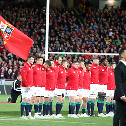 Lions during game 7 of the British and Irish Lions 2017 Tour of New Zealand, the first Test match between  The All Blacks and British and Irish Lions, Eden Park, Auckland, Saturday 24th June 2017<br /> (Photo by Kevin Booth Steve Haag Sports)<br /> <br /> Images for social media must have consent from Steve Haag