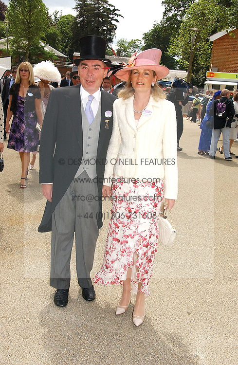 LORD & LADY LLOYD-WEBBER at the first day of the Royal Ascot racing festival 2006 at Ascot Racecourse, Berkshire on 20th June 2006.<br /><br />NON EXCLUSIVE - WORLD RIGHTS