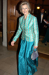 HRH PRINCESS ALEXANDRA at a recital and dinner to celebrate the 10th anniversary of The Galitzine Library held at 2 Temple Place, London WC2 on 16th November 2004.<br />