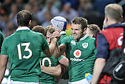 11 June 2016, Ireland players celebrate after beating South Africa in the first Test Match at Newlands Stadium,  Cape Town, SOUTH AFRICA.<br /> <br /> <br /> Photo by:Luigi Bennett/Image SA